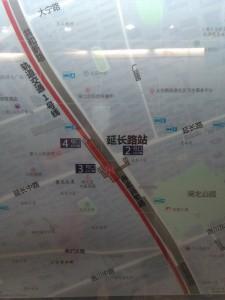 延長路駅周辺図(出入り口)