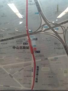 中山北路駅周辺図(出入り口)
