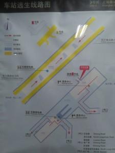 上海南站駅構内図