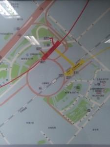 上海南站駅周辺図(出入り口)