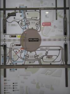上海南駅ターミナル周辺図