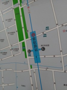 聯航路駅周辺図(出入り口)