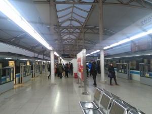 瀋社公路駅ホーム