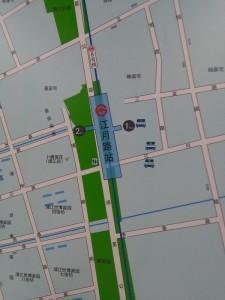 江月路駅周辺図(出入り口)