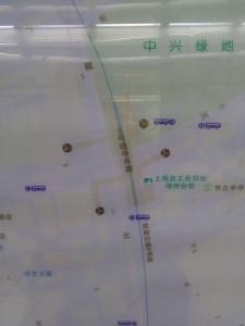 中興路駅周辺図(出入り口)