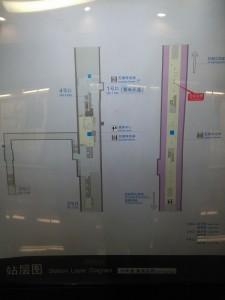 殷高東路駅構内図