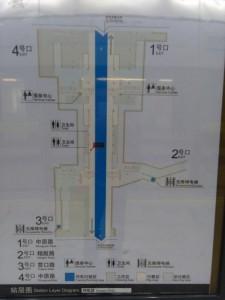 翔殷路駅構内図