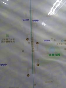 延吉中路駅周辺図(出入り口)
