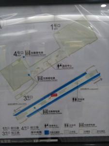 黄興路駅構内図