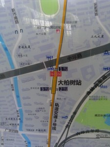 大柏樹駅周辺図(出入り口)