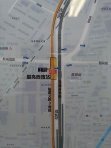 殷高西路駅周辺図(出入り口)