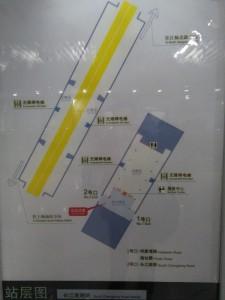 長江南路駅構内図