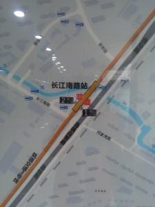 長江南路駅周辺図(出入り口)