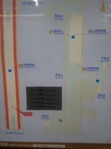 嵐皋路駅構内図