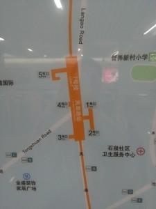 嵐皋路駅周辺図(出入り口)