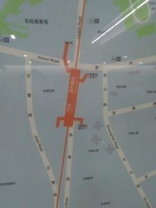 新村路駅周辺図(出入り口)