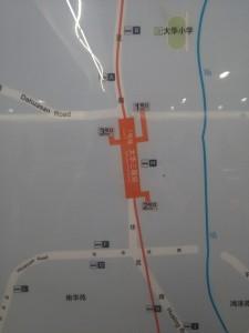 大華三路駅周辺図(出入り口)
