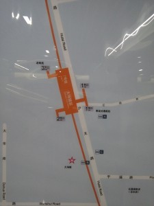 大場鎮駅周辺図(出入り口)