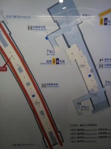 鎮坪路駅構内図
