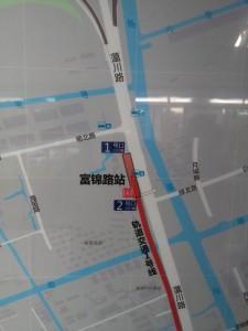 富錦路駅周辺図(出入り口)