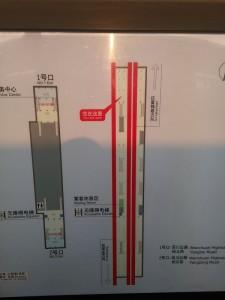 富錦路駅構内図