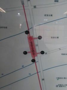 宝安公路駅周辺図(出入り口)