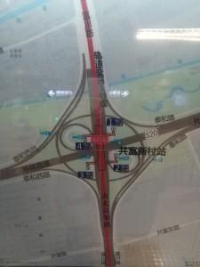 共富新村駅周辺図(出入り口)