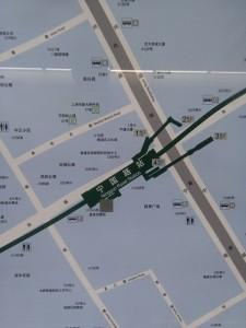 寧国路駅周辺図(出入り口)