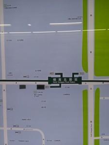 楊高北路駅周辺図(出入り口)