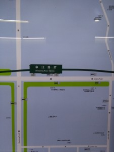 申江路駅周辺図(出入り口)