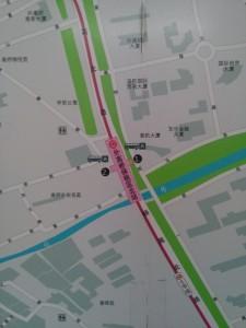 外高橋保税区北駅周辺図(出入り口)