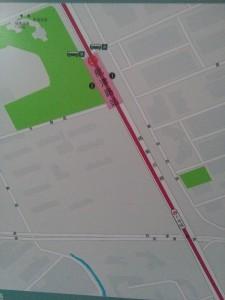 航津路駅周辺図(出入り口)