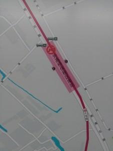 外高橋保税区南駅周辺図(出入り口)