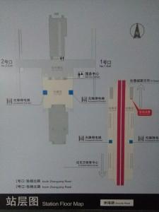 洲海路駅構内図