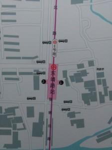 東靖路駅周辺図(出入り口)
