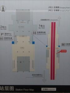 東靖路駅構内図