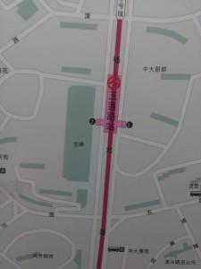 五蓮路駅周辺図(出入り口)
