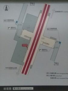博興路駅構内図
