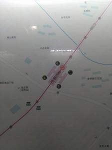 金橋路駅周辺図(出入り口)