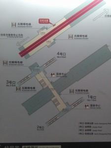 金橋路駅構内図
