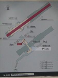 雲山路駅構内図
