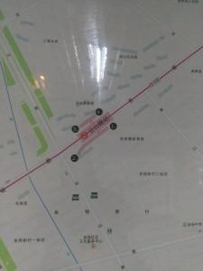 雲山路駅周辺図(出入り口)