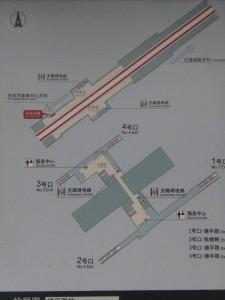 徳平路駅構内図