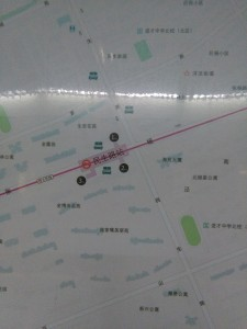 民生路駅周辺図(出入り口)