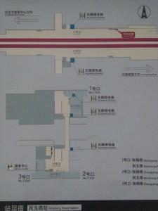 民生路駅構内図