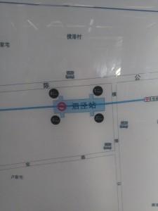 泗涇駅周辺図(出入り口)