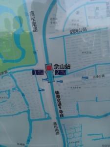 佘山駅周辺図(出入り口)