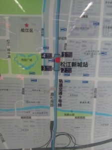 松江新城駅周辺図(出入り口)