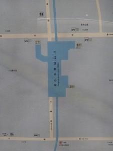 松江体育中心駅周辺図(出入り口)
