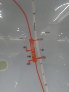上大路駅周辺図(出入り口)